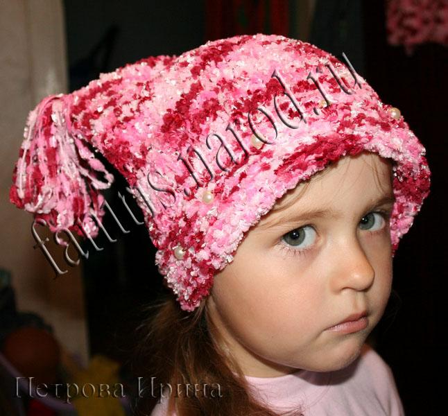 шапки связанные спицами - Выкройки одежды для детей и взрослых.